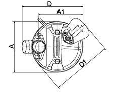 Dimensions_Vue-de-haut_Pompe-TSURUMI-LB